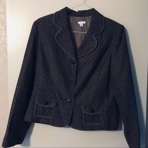 Tweed Fully lined jacket . Latte color.